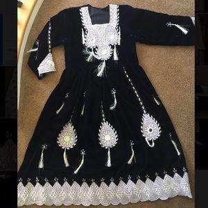 Kuchi Afghan vintage velvet Pakistan India dress